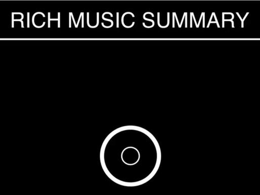 Rich Music Summary 00: Primo impatto con il 2021