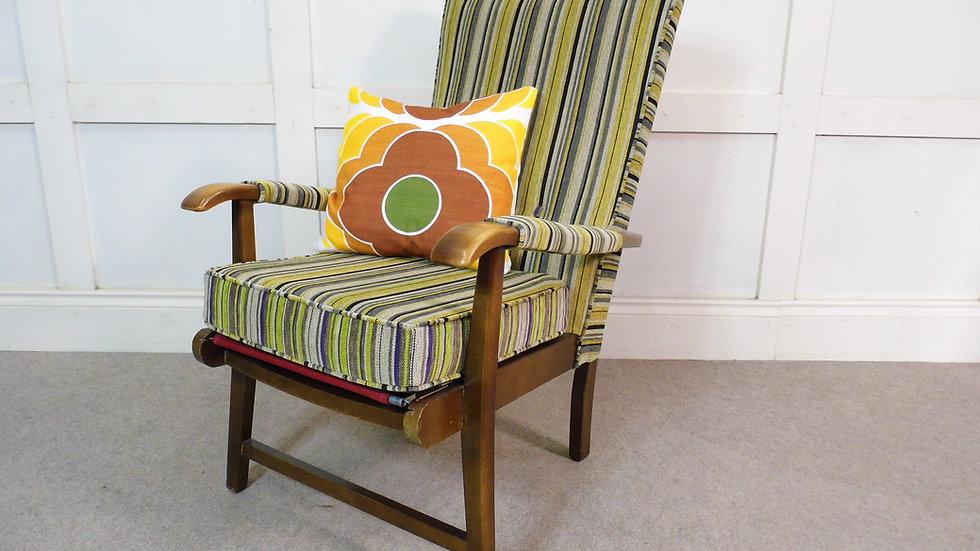 Vintage Retro Mid Century Cintique Armchair 1950s Reupholstered Design