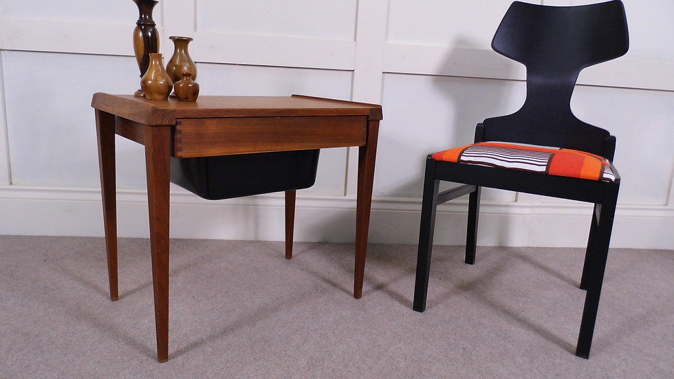 Vintage retro Danish Teak sewing hobby box 1970s design 2