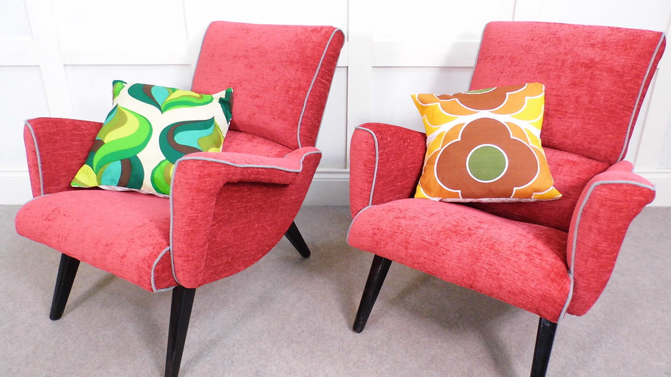 Vintage Retro GPlan armchairs siesta 411 chairs reupholstered