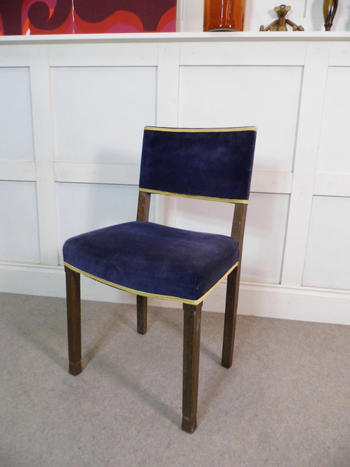 Rare Vintage Antique 1930s Limed Chair For Royal Coronation King George Vl  From 1937