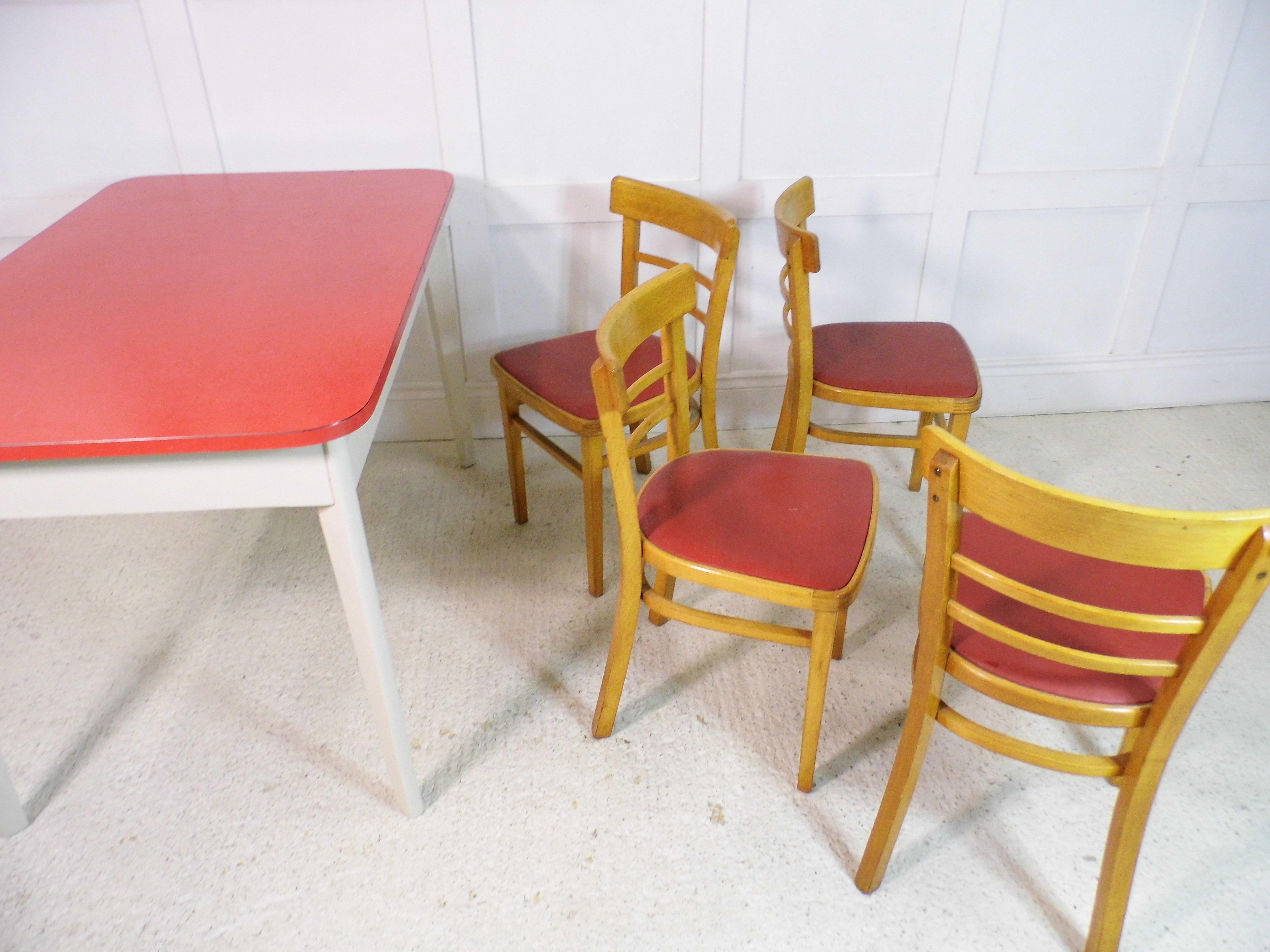 Vintage Retro Formica 1950s Kitchen table & 4 original 50s ...