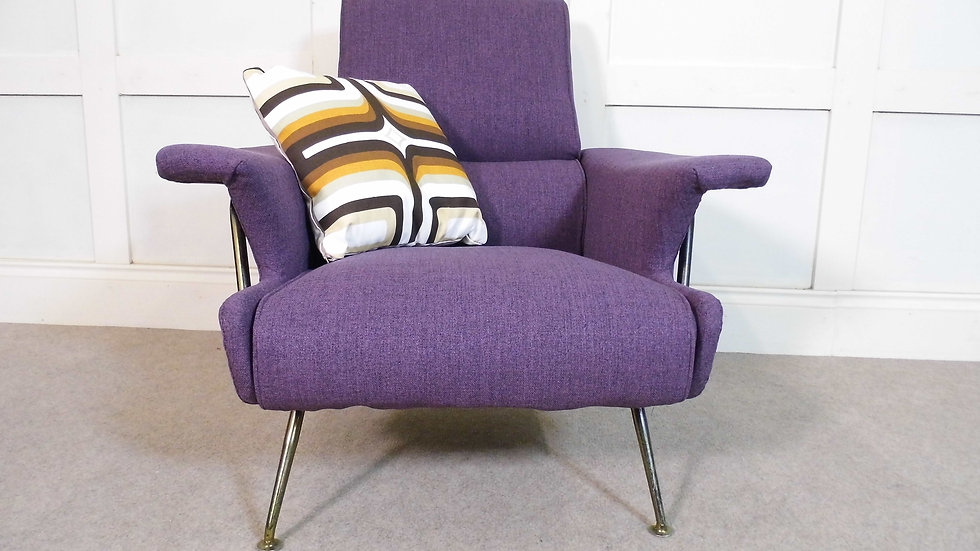 Vintage retro GPlan Model 6011 armchair 1962 design italian styling upholstered