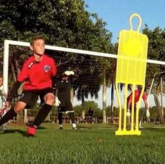 Youth Goalkeeper Joseph Bassett improvin