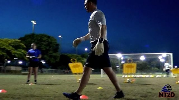 NT2D Goalkeeper Coach Brian Periman take
