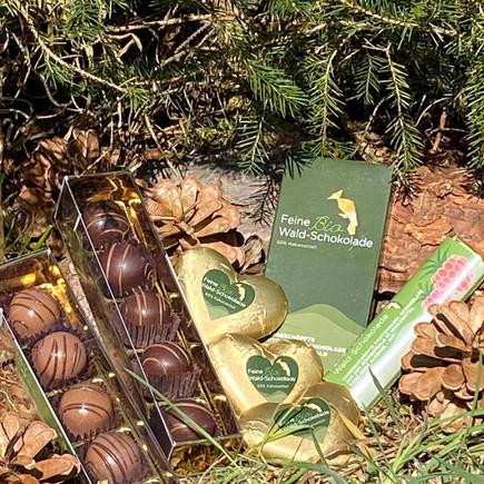 Handgeschöpfte Bio Waldschokolade