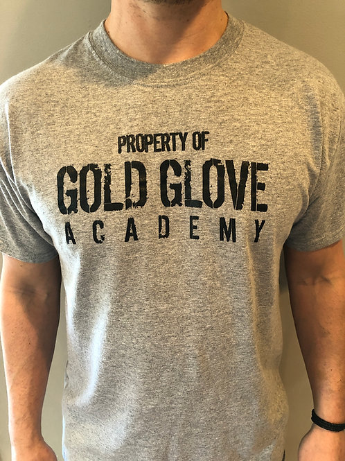 """NEW Gold Glove Academy """"Property Of"""" Tee"""