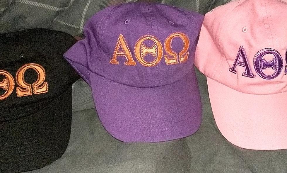 Embroidered Greek Letter Hats
