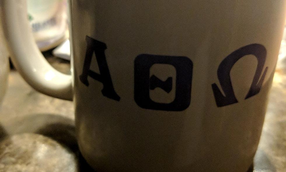 Greek Letter coffee mug