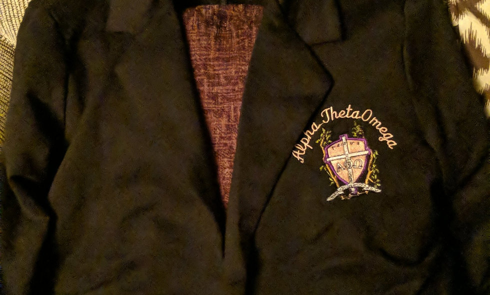 Blazer with embroidered crest