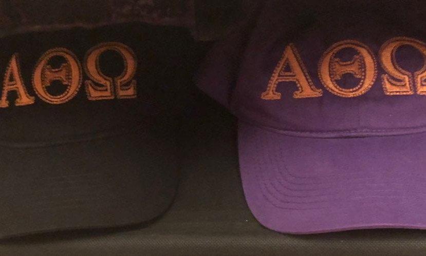 Greek lettered embroidered hat