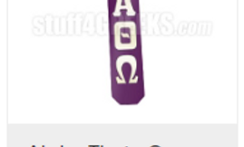 Greek Letter Glossy Paddle