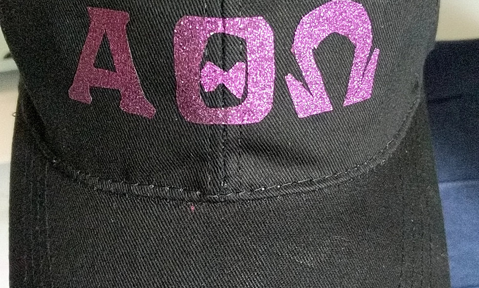 Greek Letter glitter hat