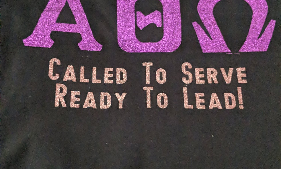 Glitter Called to Serve Tee