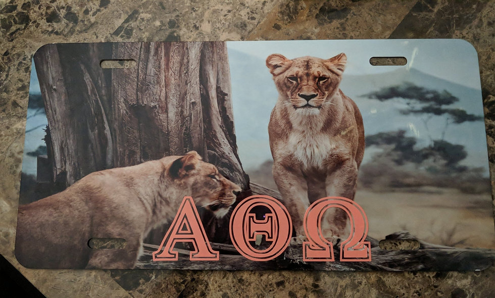 Lioness (full) license plate