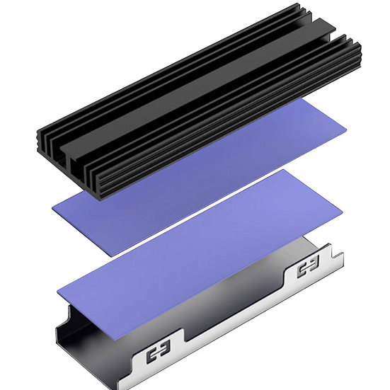 NVMe Heatsinks for M.2 SSD Tool Free Compatible with TREBLEET Two-Slot Enclosure