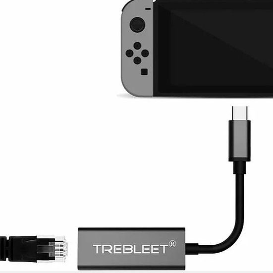 Ethernet Adapter for Nintendo Switch USB3.0 to 10/100/1000 Network RJ45 LAN Wire