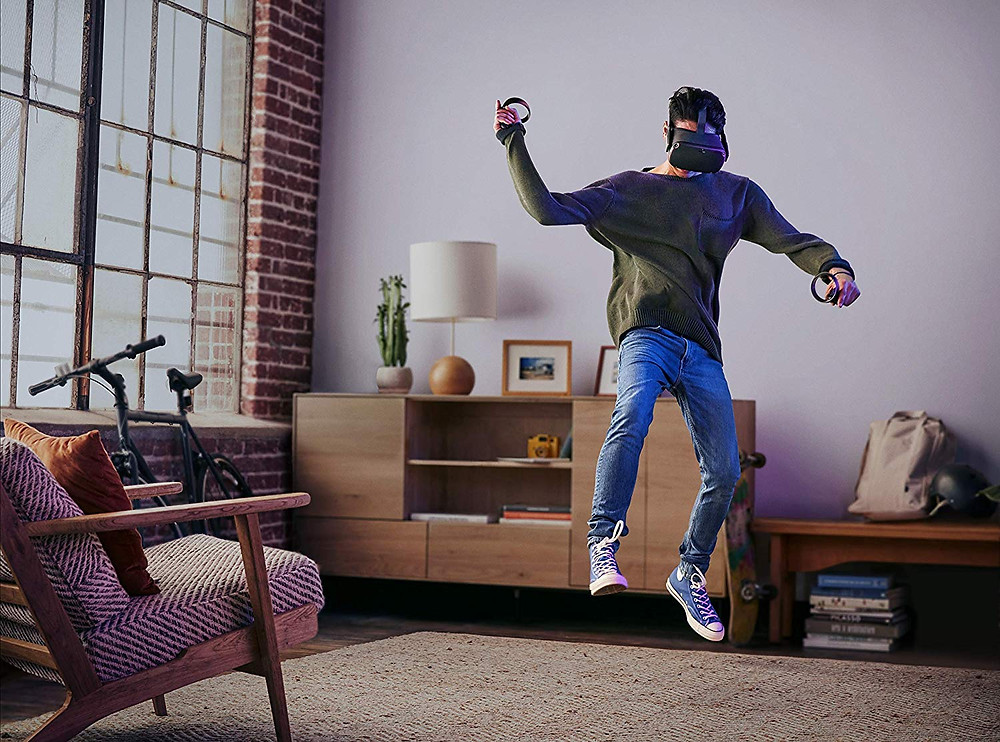 Spēle bez ierobežojumiem Oculus Quest virtuālās realitātes brillēs