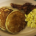 #11. Huevos Y Hotcakes. Eggs and Pancakes.