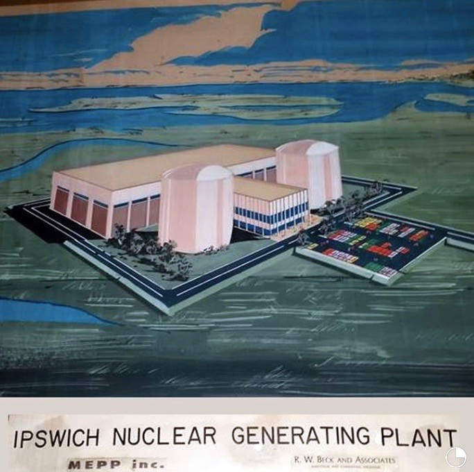 Architect's Rendering of Proposed Nuclear Power Plant in Ipswich