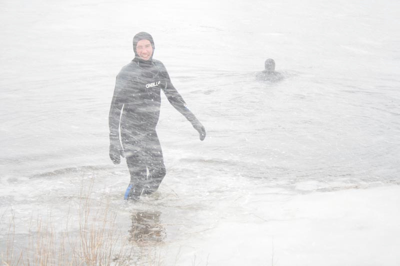 Swimming a Blizzard