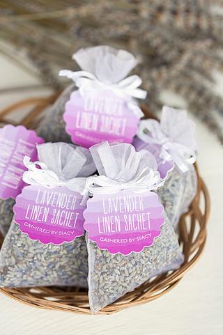 DIY English Lavender Linen Sachets