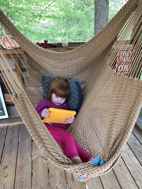 Trailside Treehouse Hammock Swing