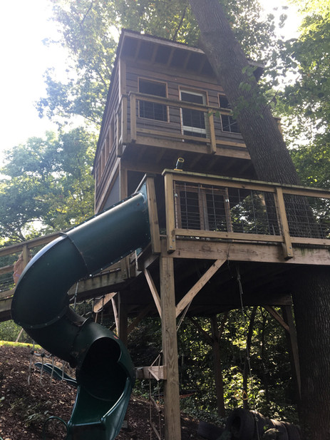 Trailside Treehouse Slide
