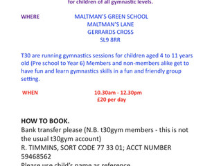 Half-Term Gymnastics Sessions