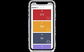 FOTOBOX smartphone with charts