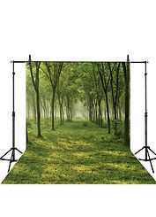 photocall backdrop forest