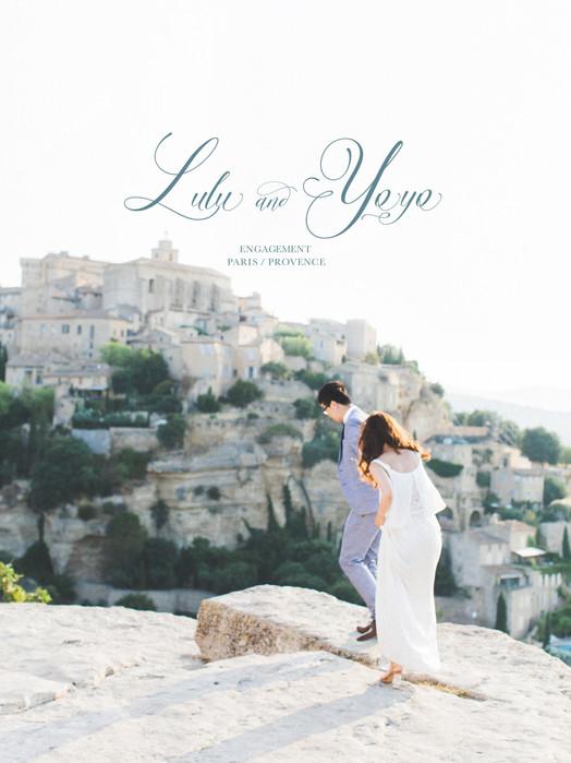 Lulu & Yoyo Engagement(Pre-Wedding) Paris & Provence 法國普羅旺斯&巴黎婚紗 美式婚紗