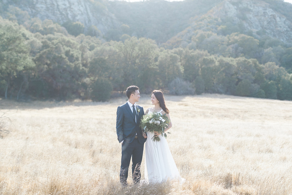 Kevin & Ting Elopement Wedding in Malibu Creek Park, LA Arther Chen Photography