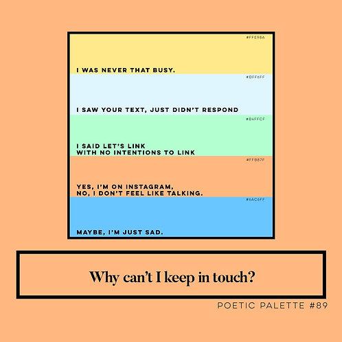 Poetic Palettes 80 - 89
