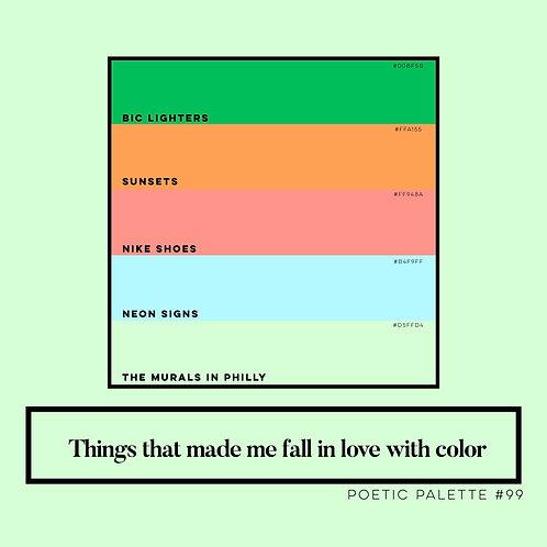 Poetic Palettes 90 - 99