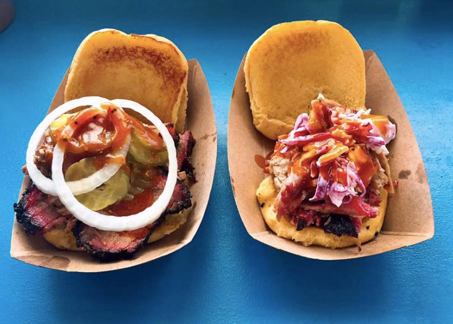 Brisket & Pork Sandwiches
