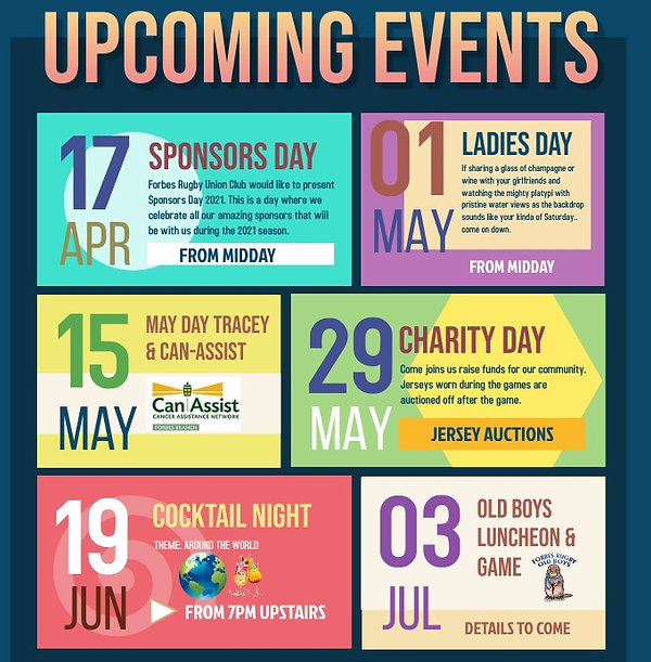 Copy of Upcoming Events Flyer - Made wit