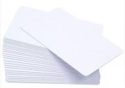 Cartão Pvc Branco Liso 76mm - Sem Resina