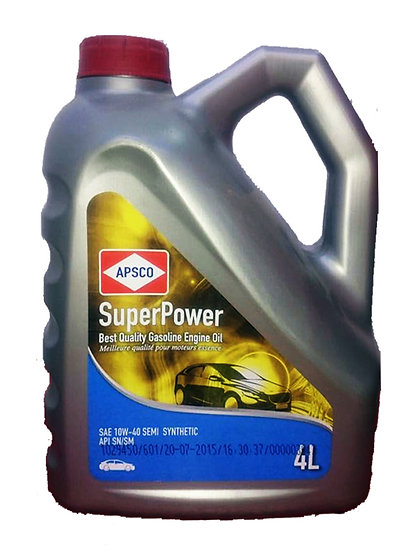 APSCO SuperPower Gasoline Engine Oil SAE 10W-40 SEMI Synthetic
