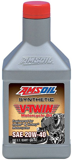 AMSOIL Synthetic V-Twin 20W-40 Motorcycle Oil