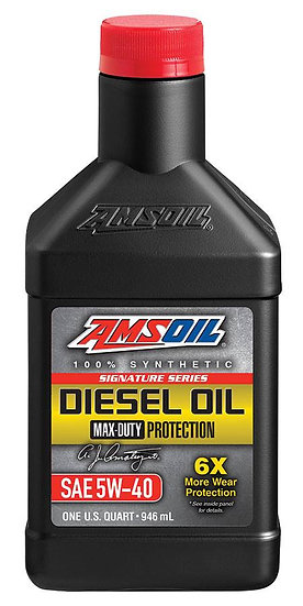 AMSOIL Signature Series Max-Duty 5W-40 Synthetic Diesel Oil
