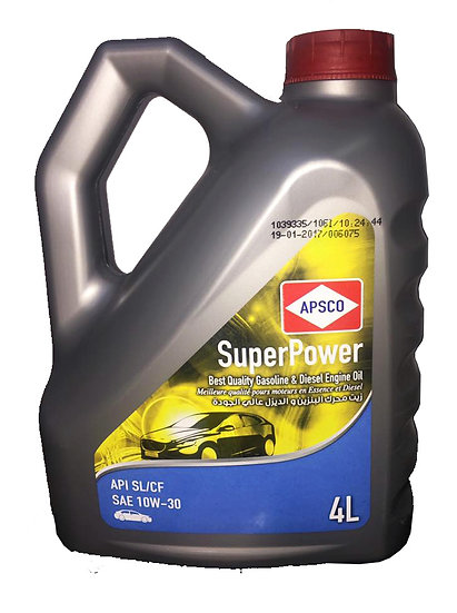 APSCO SuperPower Gasoline Engine Oil API SL/CF SAE10W-30