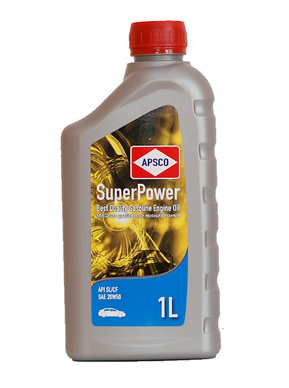 APSCO SuperPower Gasoline Engine Oil API SL/CF-SAE 20W50