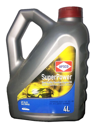 APSCO SuperPower Gasoline Engine Oil API SL/CF SAE 20W50