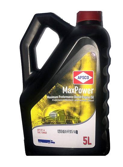 APSCO MaxPower Diesel Engine Oil API CF - SAE 15W40