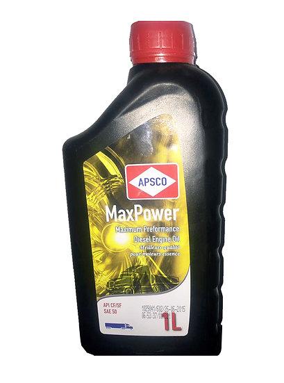 APSCO MaxPower Diesel API CF/SF 50 - 1Liter