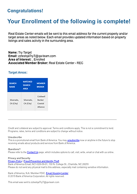 BOA Confirmation of Real Estate Center E