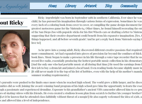 Biography Page Added
