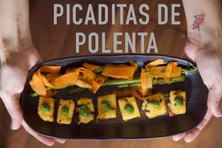 Picaditas de Polenta   Polenta bites