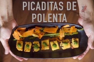 Picaditas de Polenta | Polenta bites